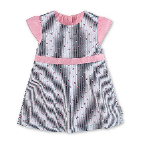 Sterntaler Baby - Mädchen Robe Bébé Kleid, Blau (Marine 300), 18-24 Monate (Herstellergröße: 92)