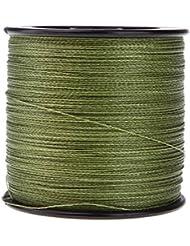 TOOGOO(R)500M 30LB 0,26 mm Dyneema linea de pesca fuerte PE trenza 4 Directrices (verde)