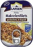 Larsen Geräucherte Pfeffer-Makrelenfilets, in Rapsöl, 12er Pack (12 x 110 g)