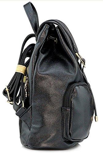 Keshi Pu neuer Stil Damen accessories hohe Qualität Einfache Tasche Schultertasche Freizeitrucksack Tasche Rucksäcke Rosa
