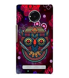 Indian Owl Graphics 3D Hard Polycarbonate Designer Back Case Cover for YU Yureka AO5510