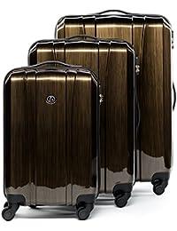 FERGÉ® Valise Trolley variété de Couleurs et de Tailles Dijon Bagages Rigide 4 Roues 360 degrés