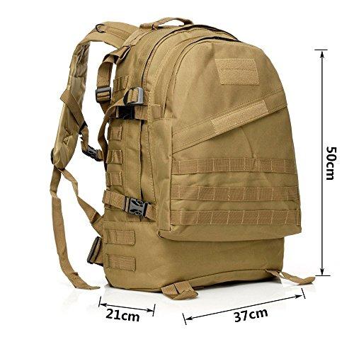 40L Mil-Tec Military Army Patrol MOLLE Assault Pack Taktischer Rucksack Laptop Tasche Rucksack für 10bis 39,6cm Laptops Tan
