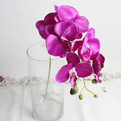 Lc3w9youc – Flor Artificial de orquídea de Mariposa, 1 Pieza para decoración del hogar o Boda, Color Morado