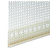 50x 6 mm Putzabschlussprofil Abschlussprofil PVC mit Gewebe Putzprofil je 2,0 m
