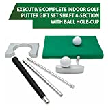 #9: Executive Mini Golf Set with Metal Carry Case Wooden Golf Set Office Home Indoor Golf Play Set with Aluminum Alloy BRIEFCASE Golf Ball Club Putting Hole Set PREMIUM QUALITY Golf Set