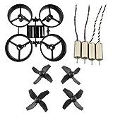 Fytoo Accessoires 4PCS Moteurs +4 Pcs Hélices+ 1PCS Protecteur de Drone pour JJRC H36 EACHINE E010 Noir
