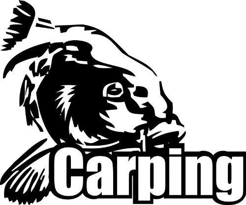 Preisvergleich Produktbild Shirtstown Auto Aufkleber Carp Hunter Angeln Karpfen,  fischen,  Fischer,  Angler