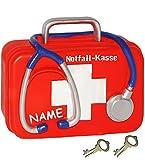 alles-meine.de GmbH Spardose -  Notfall - Kasse  - incl. Name - mit Schlüssel und Schloss - stabile Sparbüchse aus Kunstharz / Polyresin - Sparschwein - für Kinder & Erwachsene..