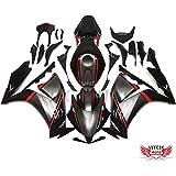 VITCIK (Kit de Carenado para Honda CBR1000RR 2012 2013 2014 CBR 1000RR 12 13 14) Accesorios de repuesto para bastidor y carrocería con completo para motocicleta y moldeo por inyección en ABS(Negro & Rojo) A025