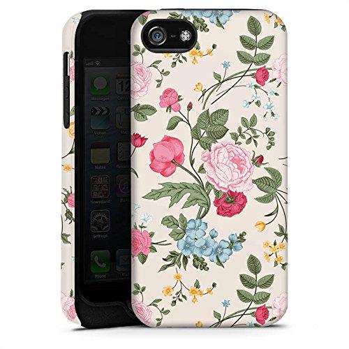 Apple iPhone 4 Housse Étui Silicone Coque Protection Fleurs Fleurs Motif Cas Tough terne