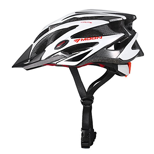 Lixada casco da bicicletta casco da bici regolabile casco da ciclismo adulto unisex con visiera per ciclismo su strada da corsa mtb 4 colori