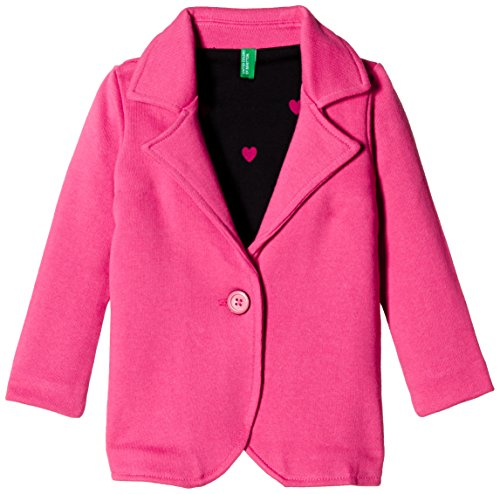 United Colors of Benetton Baby Girls' Jacket (15A3STRISAF6I12E_Carmine_1Y)