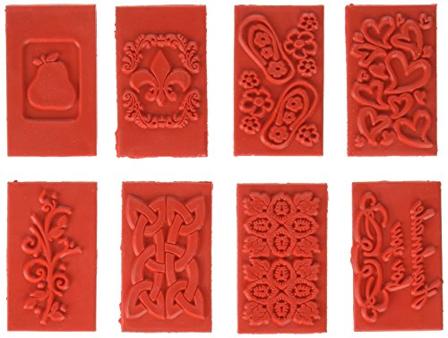 Life Of The Party Soap Embossing Stamp Assortment 8/Pkg-Rectangle, Other, Multicoloured
