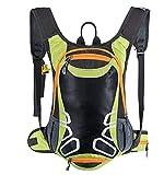Mochila de ciclismo con soporte para casco, mochila ligera de esquí de 15 l...