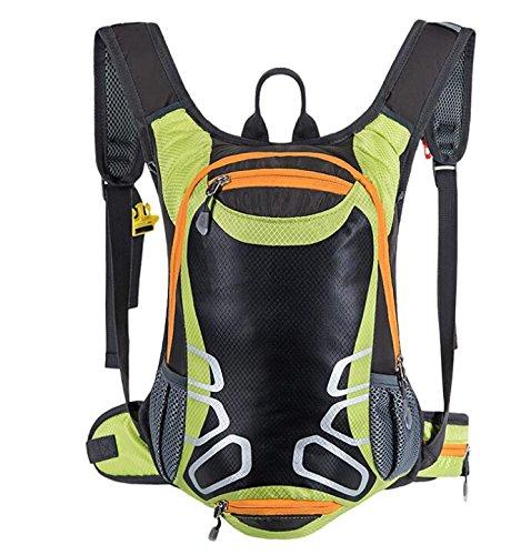 Rucksäcke für Radsport mit Helmhalter 15L leichter Fahrradrucksack Trinkrucksack Ski-Daypack Mini Kompakt Wasserdicht kleiner Rucksack für Radfahren Wandern Camping Bergsteigen Skifahren Trekking