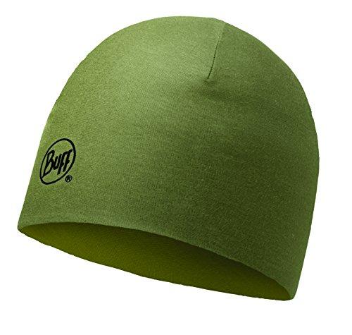 Berretto Buff Merino Wool Reversibile Solid Light Military 2016, verde, Taglia unica