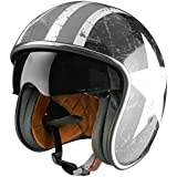Origine Helmets - Sprint Rebel Star Casco Abierta, Blanco/Gris, S