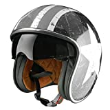 Origine Helmets Sprint Rebel Star Casco Abierta, Blanco/Gris, S
