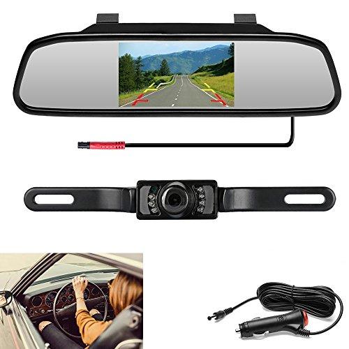 """Podofo® Mini Nachtsicht-Unterstützungskamera-System mit 4.3 \""""TFT LCD hintere Ansicht-Spiegel-Monitor-wasserdichte Rückkamera für Auto"""