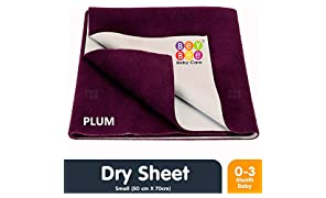 Bey Bee Waterproof Bed Protector for New Born Babies and Kids, Small, Plum (70 cm x 50 cm)