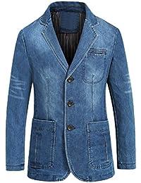 Mallimoda Uomo Giacca Blazer Monopetto Jacket Casual Cappotto eae8bfc3d03