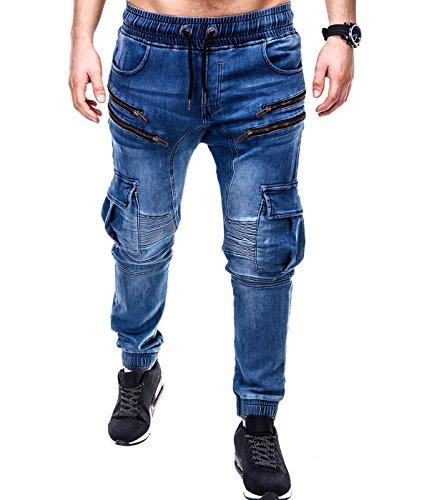 BetterStylz -  Pantaloni  - Uomo Medium Denim / DZipCargo XL