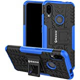 Bracevor Hybrid Back Cover Kickstand Case for Xiaomi Redmi Note 7 | Redmi Note 7 Pro | Redmi Note 7S - Blue | Rugged Defender