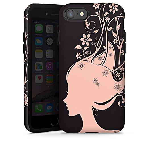 Apple iPhone X Silikon Hülle Case Schutzhülle Frau Blumen Blüten Tough Case glänzend