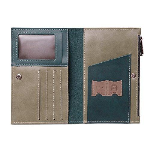 HGDGears Cartera de piel Fundas de pasaporte,RFID Bloqueo - Accesorios