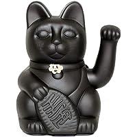 Gatto Fortunato Cinese. Gatto portofortuno. Lucky cat. Maneki Neko. COLORE NERO 12x8x18cm