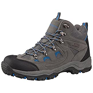 Mountain Warehouse Adventurer Mens Boots - Waterproof Rain Boots, Synthetic & Textile Walking Shoes, Added Grip Mens All… 1
