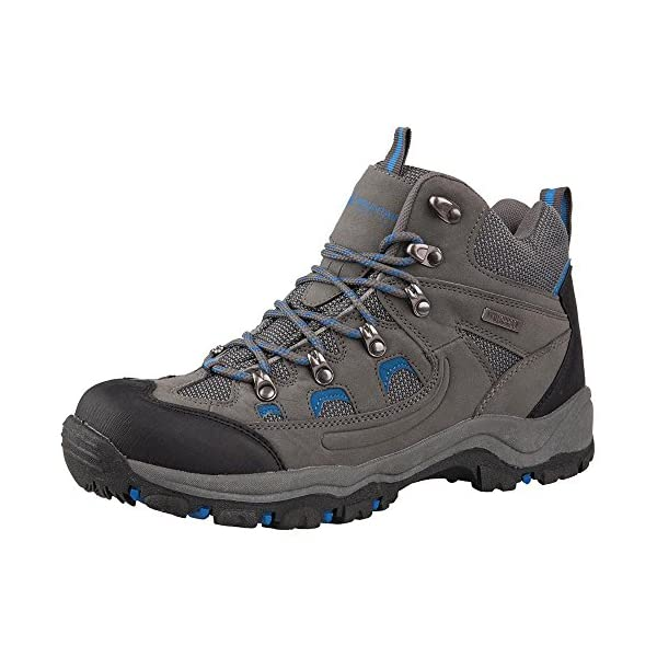 Mountain Warehouse Adventurer Mens Boots - Waterproof Rain Boots, Synthetic & Textile Walking Shoes, Added Grip Mens All Season Shoes - Footwear for Hiking & Trekking 1