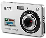 "Aberg Best 21 Mega Pixels 2.7"" LCD Rechargeable HD Digital Camera - Digital video camera - Students cameras - Indoor Outdoor for Adult /Seniors / Kids (Silver) (SILVER)"