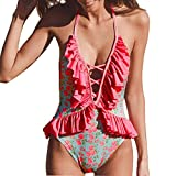 Costume da Bagno Intero Stampa Costumi da Bagno Donna Intero Benda Push Up Costumi da Bagno Donna Stampa Bikini Fiori da Donna Vestito Abito Costumi da Bagno Donna Qinsling