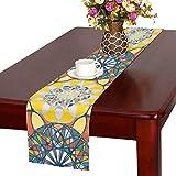 JSXMNA Abstrakte Farbe Tischläufer, Küche Esstischläufer 16 x 72 Zoll für Dinner Parties, Events, Dekor