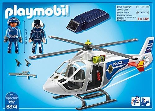 PLAYMOBIL 6874 – Polizei-Helikopter mit LED-Suchscheinwerfer - 3