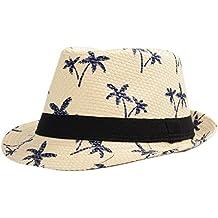 ff8ad96f6af3e Leisial Sombrero Playa Paja de Viajes Vacaciones Verano Gorro Estilo  Británico para Hombre Beige
