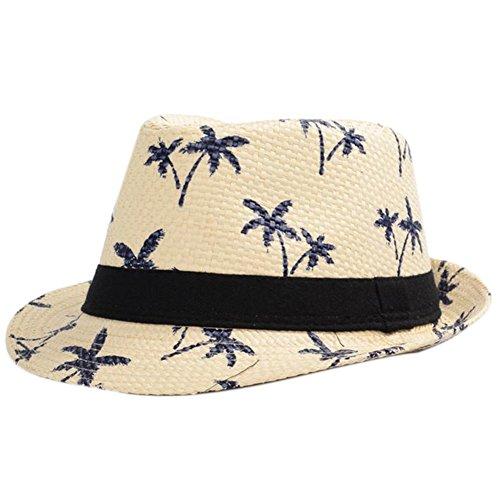 Leisial Sombrero Playa Paja de Viajes Vacaciones Verano Gorro Estilo  Británico para Hombre Beige 26e3d9ab407