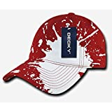 Decky 237-RED Splat Polo Caps - Red