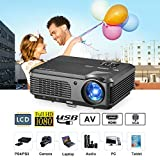 CAIWEI HD Video Projector 1080P 4200 Lumen LCD LED Movies Gaming Projectors Home