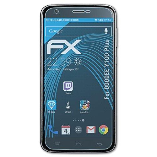 atFolix Schutzfolie kompatibel mit DOOGEE Y100 Plus Folie, ultraklare FX Displayschutzfolie (3X)