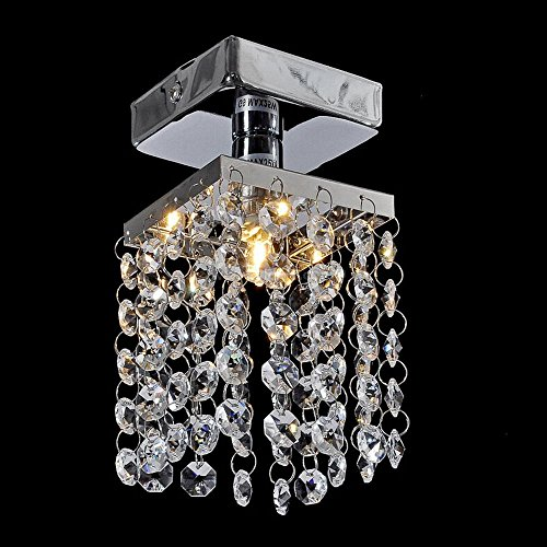 Crystal Light Ceiling aisle lights modern minimalist small crystal chandelier