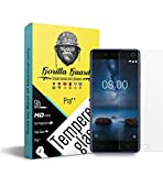 #5: Gorilla guard's Pro series tempered glass for Nokia 8 with HD+ ultra clear edge to edge 9H hardness, UV protect & anti-smudge technology TEMPERED glass phone protector (04-Nokia-8-pro)