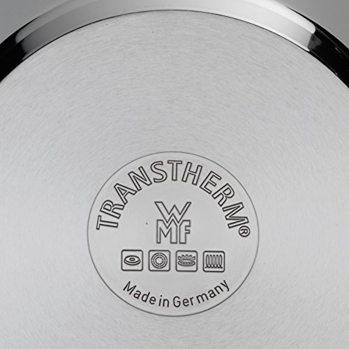 WMF Perfect Schnellkochtopf 4,5l, Cromargan Edelstahl poliert, 2 Kochstufen Einhand-Kochstufenregler, induktionsgeeignet, spülmaschinengeeignet, Ø 22 cm