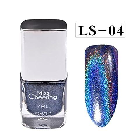 Vernis à Ongles Laser, Internet Diamant Assez Holographique Holo Paillettes Gel Vernis à Ongles Art (D)