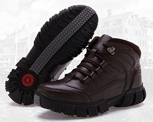 Dayiss® Herren Lederschuhe Knöchelschuhe Stiefeletten Ankle Boots Chukka Boots WinterSchuhe Braun
