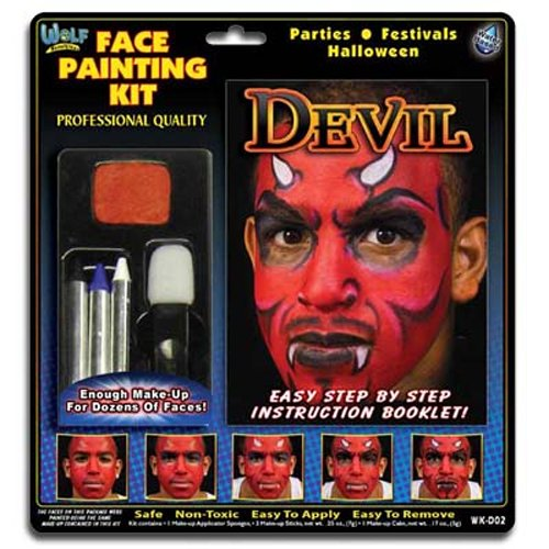en Karneval Fasching Make Up Kit ()