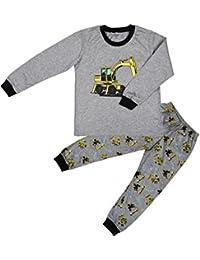 Tkria Enfants Garçons Ensembles de pyjama Mignonne Tracteur, 1-7 Ans
