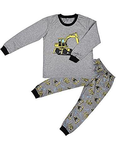Tkria Enfants Garçons Ensembles de pyjama Mignonne Tracteur, 4-5 Ans